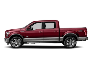 Ruby Red Metallic Tinted Clearcoat 2016 Ford F-150 Pictures F-150 Crew Cab King Ranch 4WD photos side view