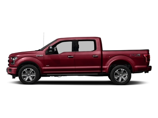 Ruby Red Metallic Tinted Clearcoat 2016 Ford F-150 Pictures F-150 Crew Cab Platinum 2WD photos side view