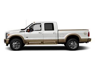 White Platinum Metallic Tri-Coat 2016 Ford Super Duty F-250 SRW Pictures Super Duty F-250 SRW Crew Cab King Ranch 2WD photos side view
