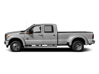 Ingot Silver Metallic 2016 Ford Super Duty F-450 DRW Pictures Super Duty F-450 DRW Crew Cab Platinum 4WD T-Diesel photos side view