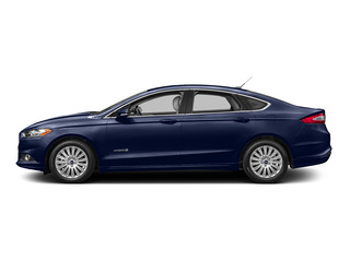Deep Impact Blue 2016 Ford Fusion Pictures Fusion Sedan 4D S I4 Hybrid photos side view