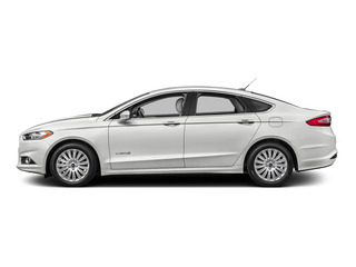 Oxford White 2016 Ford Fusion Pictures Fusion Sedan 4D S I4 Hybrid photos side view
