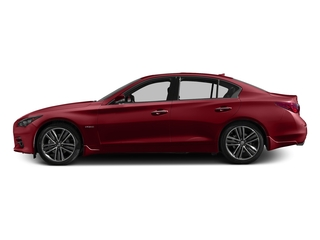 Venetian Ruby 2016 INFINITI Q50 Pictures Q50 Sedan 4D AWD V6 Hybrid photos side view