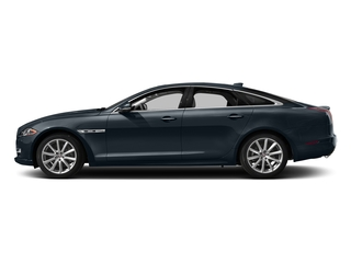 Dark Sapphire Metallic 2016 Jaguar XJ Pictures XJ Sedan 4D R-Sport AWD V6 Supercharged photos side view