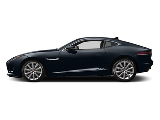 Dark Sapphire Metallic 2016 Jaguar F-TYPE Pictures F-TYPE Coupe 2D V6 photos side view