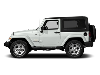 Bright White Clearcoat 2016 Jeep Wrangler Pictures Wrangler Utility 2D Sahara 4WD V6 photos side view
