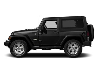 Black Clearcoat 2016 Jeep Wrangler Pictures Wrangler Utility 2D Sahara 4WD V6 photos side view
