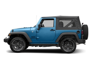 Hydro Blue Pearlcoat 2016 Jeep Wrangler Pictures Wrangler Utility 2D Sport 4WD V6 photos side view