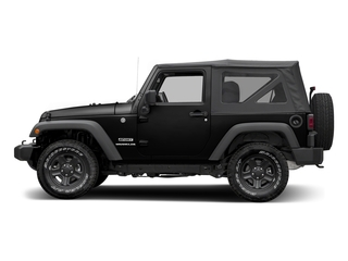 Black Clearcoat 2016 Jeep Wrangler Pictures Wrangler Utility 2D Sport 4WD V6 photos side view