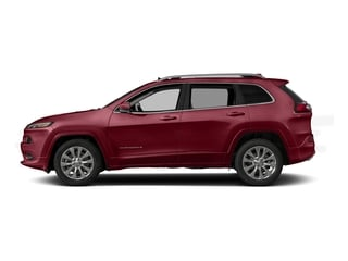 Deep Cherry Red Crystal Pearlcoat 2016 Jeep Cherokee Pictures Cherokee Utility 4D Overland 4WD photos side view