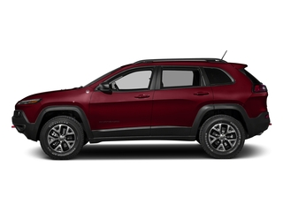 Deep Cherry Red Crystal Pearlcoat 2016 Jeep Cherokee Pictures Cherokee Utility 4D Trailhawk 4WD photos side view