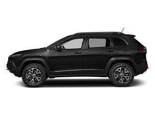 Brilliant Black Crystal Pearlcoat 2016 Jeep Cherokee Pictures Cherokee Utility 4D Trailhawk 4WD photos side view