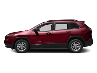 Deep Cherry Red Crystal Pearlcoat 2016 Jeep Cherokee Pictures Cherokee Utility 4D Sport 4WD V6 photos side view