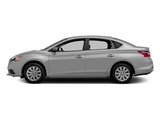 Brilliant Silver Metallic 2016 Nissan Sentra Pictures Sentra Sedan 4D SV I4 photos side view