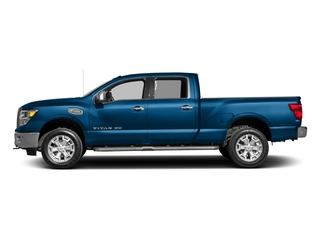 Deep Blue Pearl 2016 Nissan Titan XD Pictures Titan XD Crew Cab SL 2WD V8 photos side view