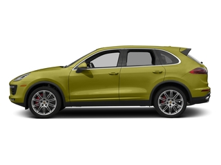 Peridot Metallic 2016 Porsche Cayenne Pictures Cayenne Utility 4D AWD V8 Turbo photos side view