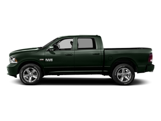 Black Forest Green Pearlcoat 2016 Ram Truck 1500 Pictures 1500 Crew Cab Express 2WD photos side view