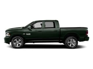 Black Forest Green Pearlcoat 2016 Ram Truck 1500 Pictures 1500 Crew Cab Outdoorsman 4WD photos side view