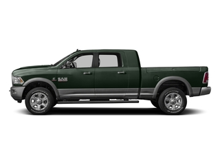 Black Forest Green Pearlcoat 2016 Ram Truck 3500 Pictures 3500 Mega Cab Laramie 2WD photos side view