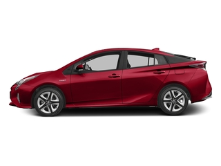 Hypersonic Red 2016 Toyota Prius Pictures Prius Liftback 5D Three Touring I4 Hybrid photos side view