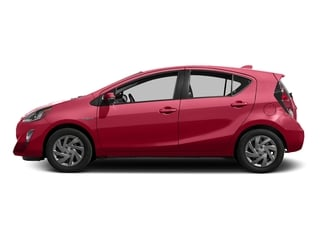 Absolutely Red 2016 Toyota Prius c Pictures Prius c Liftback 5D c I4 Hybrid photos side view