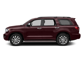 Sizzling Crimson Mica 2016 Toyota Sequoia Pictures Sequoia Utility 4D Platinum 4WD V8 photos side view