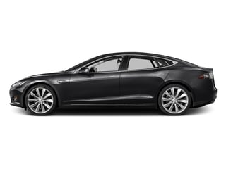 Obsidian Black Metallic 2016 Tesla Motors Model S Pictures Model S Sed 4D D Performance 90 kWh AWD Elec photos side view