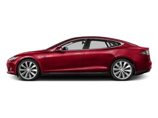 Red Multi-Coat 2016 Tesla Motors Model S Pictures Model S Sed 4D D Performance 90 kWh AWD Elec photos side view