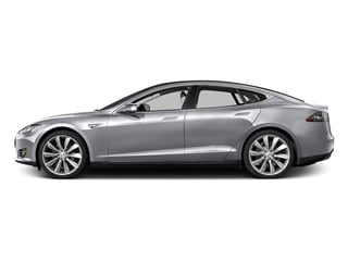Silver Metallic 2016 Tesla Motors Model S Pictures Model S Sed 4D D Performance 90 kWh AWD Elec photos side view