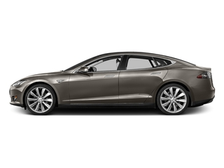 Titanium Metallic 2016 Tesla Motors Model S Pictures Model S Sed 4D D Performance 90 kWh AWD Elec photos side view