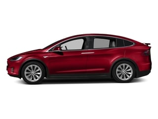Red Multi-Coat 2016 Tesla Motors Model X Pictures Model X Utility 4D Performance AWD photos side view