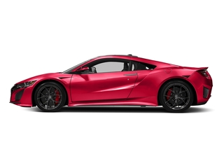 Curva Red 2017 Acura NSX Pictures NSX Coupe 2D AWD V6 Hybrid Turbo photos side view