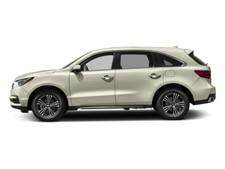 White Diamond Pearl 2017 Acura MDX Pictures MDX SH-AWD photos side view