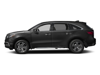 Modern Steel Metallic 2017 Acura MDX Pictures MDX Utility 4D 2WD V6 photos side view