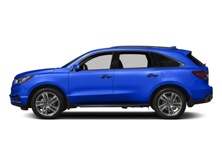 Fathom Blue Pearl 2017 Acura MDX Pictures MDX Utility 4D Advance 2WD V6 photos side view