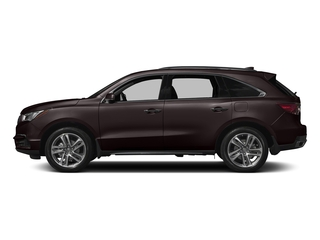 Black Copper Pearl 2017 Acura MDX Pictures MDX Utility 4D Advance 2WD V6 photos side view