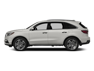 White Diamond Pearl 2017 Acura MDX Pictures MDX Utility 4D Advance 2WD V6 photos side view