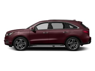 Dark Cherry Pearl 2017 Acura MDX Pictures MDX SH-AWD w/Advance Pkg photos side view