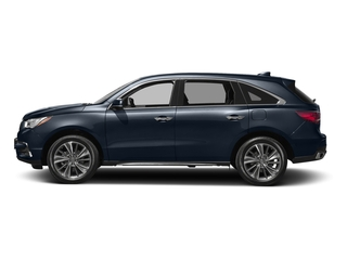 Fathom Blue Pearl 2017 Acura MDX Pictures MDX FWD w/Technology Pkg photos side view