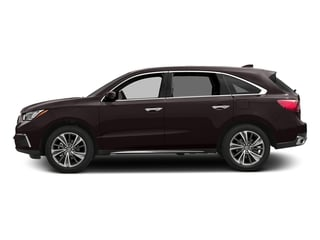 Black Copper Pearl 2017 Acura MDX Pictures MDX Utility 4D Technology AWD V6 photos side view