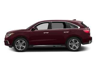 Dark Cherry Pearl 2017 Acura MDX Pictures MDX Utility 4D Technology AWD V6 photos side view