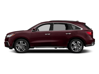 Dark Cherry Pearl 2017 Acura MDX Pictures MDX SH-AWD w/Advance/Entertainment Pkg photos side view