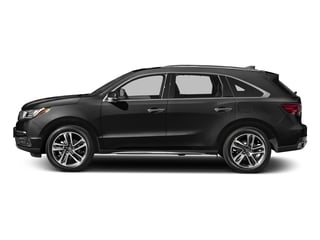 Crystal Black Pearl 2017 Acura MDX Pictures MDX Utility 4D Advance DVD 2WD V6 photos side view