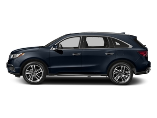 Fathom Blue Pearl 2017 Acura MDX Pictures MDX Utility 4D Advance DVD 2WD V6 photos side view