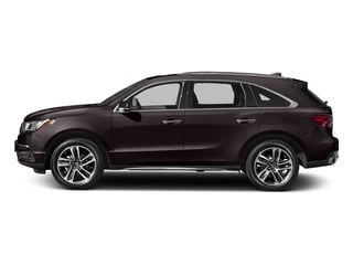 Black Copper Pearl 2017 Acura MDX Pictures MDX Utility 4D Advance DVD 2WD V6 photos side view