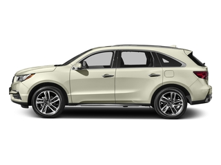 White Diamond Pearl 2017 Acura MDX Pictures MDX Utility 4D Advance DVD 2WD V6 photos side view