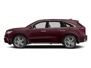 Dark Cherry Pearl 2017 Acura MDX Pictures MDX Utility 4D Technology DVD 2WD V6 photos side view