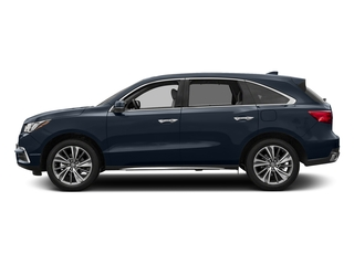 Fathom Blue Pearl 2017 Acura MDX Pictures MDX Utility 4D Technology DVD AWD V6 photos side view