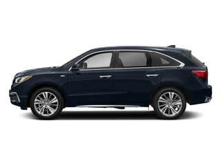 Fathom Blue Pearl 2017 Acura MDX Pictures MDX SH-AWD Sport Hybrid w/Technology Pkg photos side view
