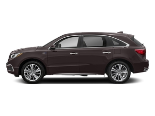 Black Copper Pearl 2017 Acura MDX Pictures MDX SH-AWD Sport Hybrid w/Technology Pkg photos side view